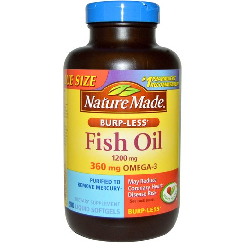 nature made burp less fish oil 200 liquid softgels
