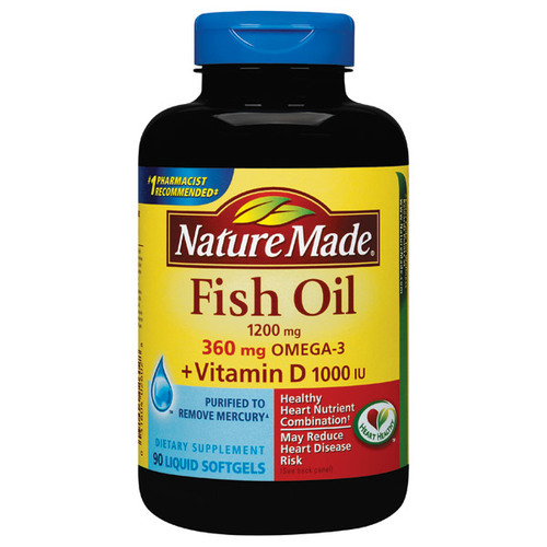 Nature made fish oil 1200 mg vitamin d 1000 iu 90 for Vitamin d fish