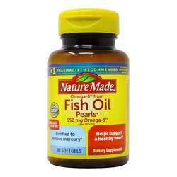 Nature Made Fish Oil Pearls 500 Mg