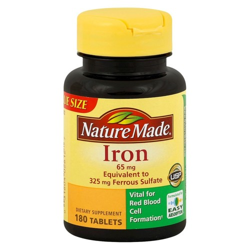 Nature Made Iron 65 mg - 180 Tablets