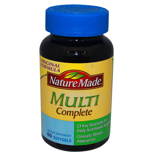 Nature Made, Multivitamínico Multi Complete - 60 Cápsulas em Gel