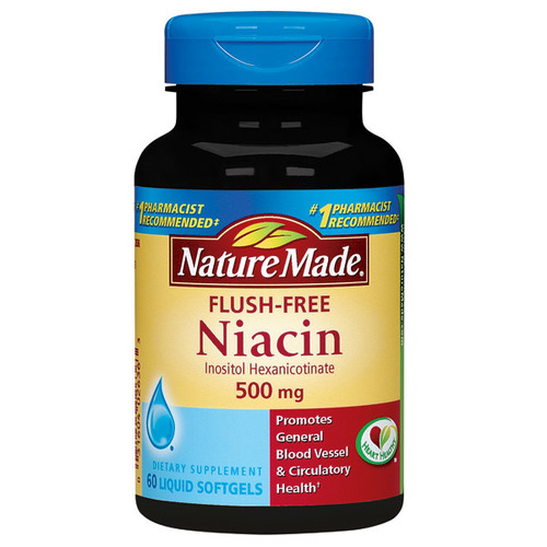 Nature Made Flush Free Niacin 500 mg - 60 Softgels