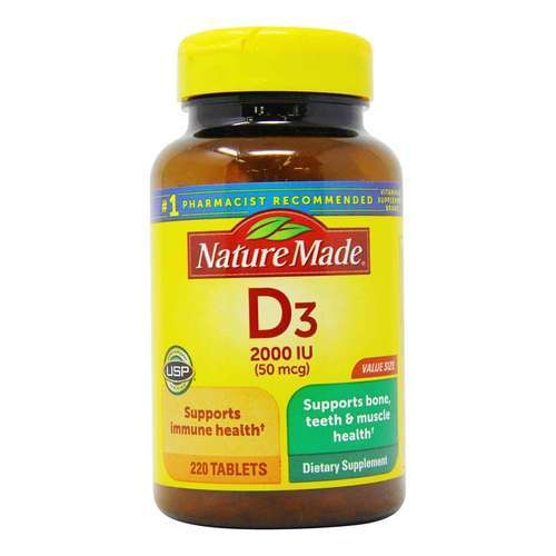 Nature Made Vitamin D3 - 2,000 IU - 220 Tabletas - 276645_front2020.jpg
