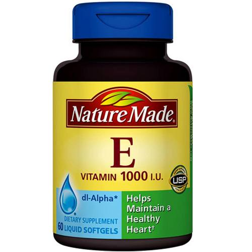 Nature Made Vitamin E - 1,000 IU - 60 Softgels