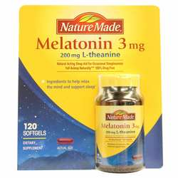 Nature Made Melatonin 3 mg L-theanine 200 mg