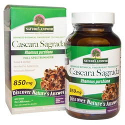 Nature's Answer Cascara Sagrada Bark 850 mg