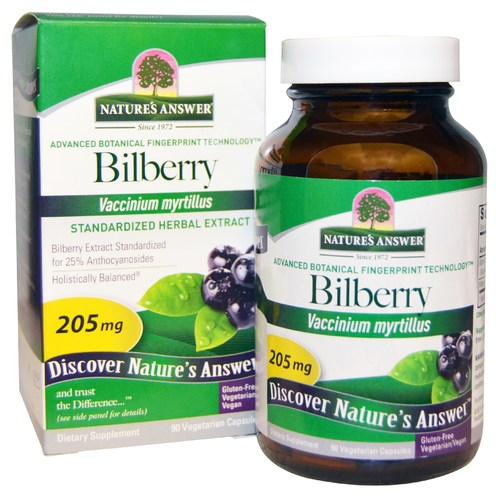 Bilberry Standardized Extract 205 mg