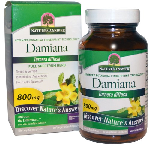 Nature's Answer Damiana Leaf 800 mg  - 90 VCapsules - 29516.jpg