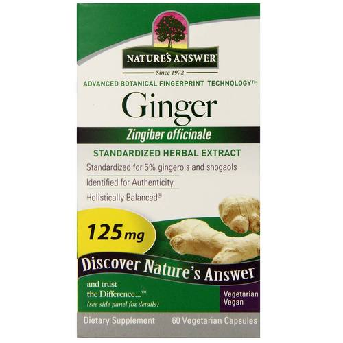 Ginger Rhizome Standardized Extract 125 mg