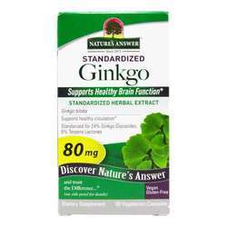 Nature's Answer Ginkgo Leaf Standardized Extract 80 mg