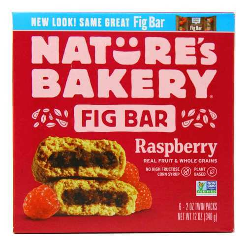 Nature's Bakery Whole Wheat Fig Bars Raspberry - 6 bars - 93932_front.jpg