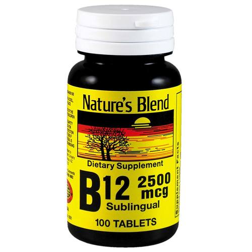 Nature's Blend B12 2500 mcg - 100 Tablets