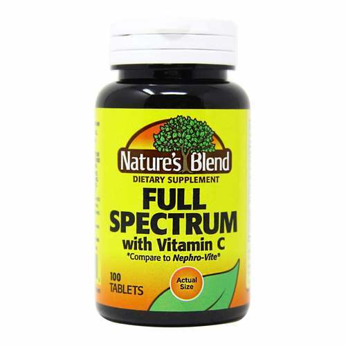 Nature's Blend Full Spectrum With Vitamin C - 100 Tablets - 149594_front2020new.jpg