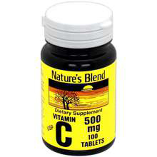 Nature's Blend Vitamin C  - 500 mg - 100 Tablets