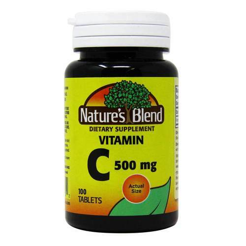 Nature's Blend Vitamin C - 500 mg - 100 Tablets - 149606_front2020.jpg
