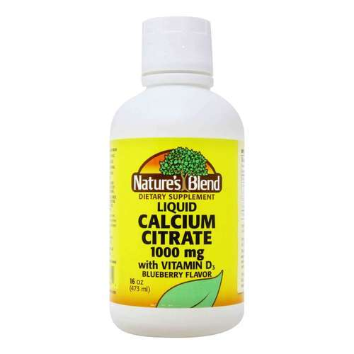 Nature's Blend Calcium Citrate 1000 mg Blueberry  - 16 fl oz (473 ml) - 149634_front2020.jpg