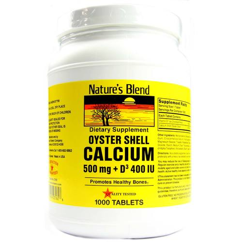 Oyster Shell Calcium 500 mg + D3 400 IU