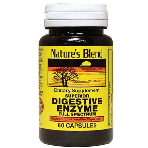 Nature's Blend Digestive Enzyme - 60 Capsules