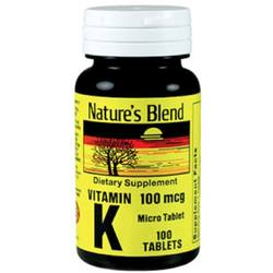 Nature's Blend Vitamin K1 100 mcg