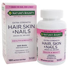 Nature's Bounty Extra Strength Hair, Skin & Nails - 150 Rapid Release Liquid Softgels