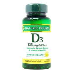 Nature's Bounty Vitamin D3 Rapid Release