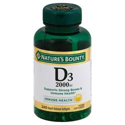 Nature's Bounty Super Strength Vitamin D3