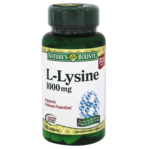 Nature's Bounty L-Lysine  - 1,000 mg - 60 Tablets