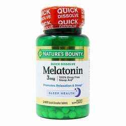 Nature's Bounty Quick Dissolve Melatonin 3 mg