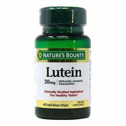 Nature's Bounty Lutein 20 mg
