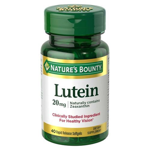 Nature's Bounty Lutein 20 mg  - 40 Rapid Release Softgels - 318758_front.jpg