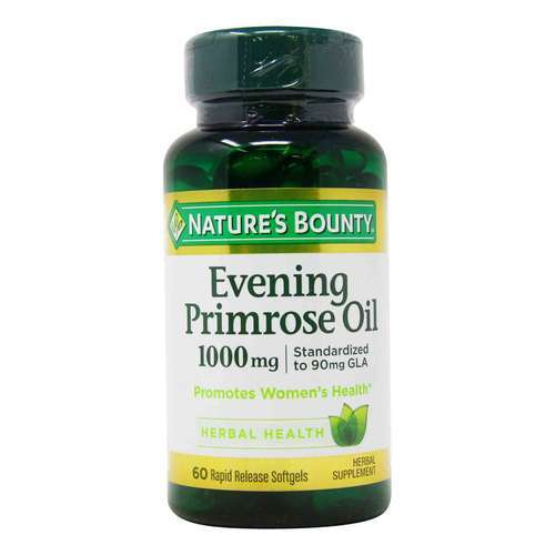 Nature's Bounty Evening Primrose Oil - 1,000 mg - 60 Rapid Release Softgels - 318773_front2020.jpg