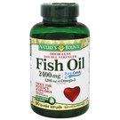Nature's Bounty Odor-Less Double Strength Fish Oil - 2,400 mg - 90 Coated Softgels