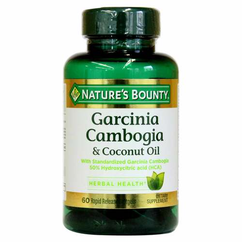Nature's Bounty Garcinia Cambogia  Coconut Oil  - 60 Softgels - 318813_front.jpg