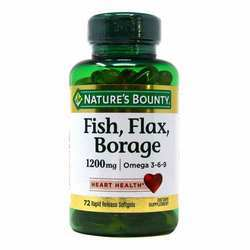 Nature's Bounty Fish- Flax- Borage