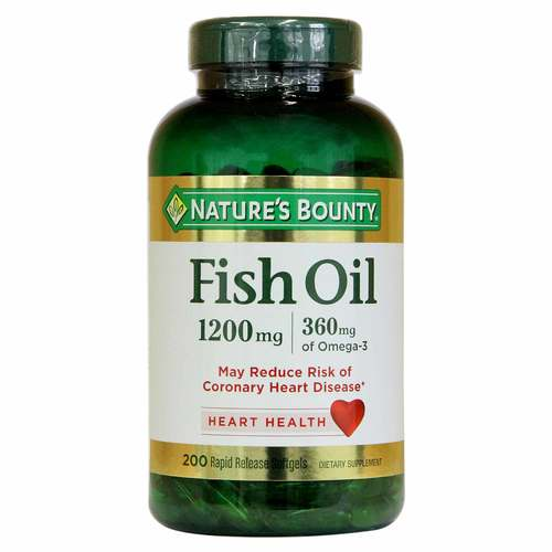Nature's Bounty Fischöl - 1,200 mg - 200 Softgels - 318822_front.jpg