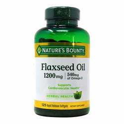Nature's Bounty Natural Cold Pressed Flaxseed Oil