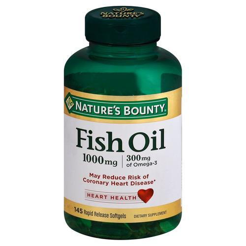 Nature 39 s bounty fish oil 1 000 mg 145 softgels for Nature s bounty fish oil review
