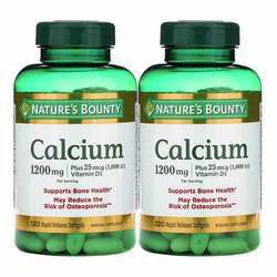Nature's Bounty Calcium Plus Vitamin D3 Twin Pack