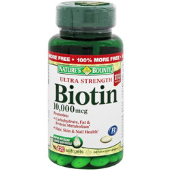 Nature's Bounty Ultra Strength Biotin