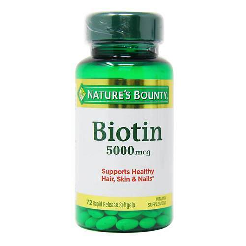 Nature's Bounty Super Potency Biotin - 5,000 mcg - 72 Softgels - 318855_front2020.jpg