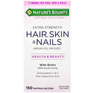 Nature's Bounty Optimal Solutions Extra Strength Hair- Skin  Nails - 150 Liquid Softgels