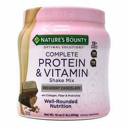 Nature's Bounty Optimal Solutions Complete Protein  Vitamin Shake Mix