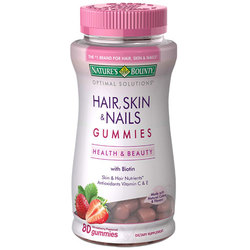 Nature's Bounty Optimal Solutions Hair- Skin  Nails Gummies