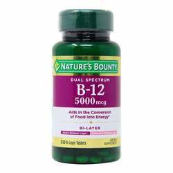 Nature's Bounty Dual Spectrum B-12 5000 mcg