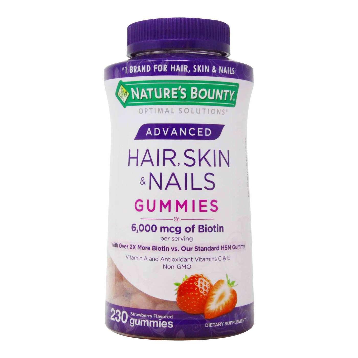Nature's Bounty Advanced Hair, Skin Nails Gummies   9 Gummies
