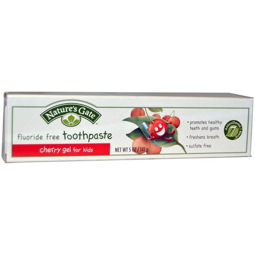 Fluoride Free Cherry Gel Toothpaste For Kids
