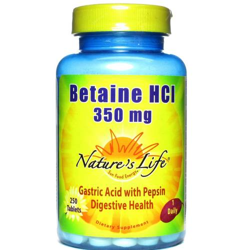 Betaine HCl 350 mg