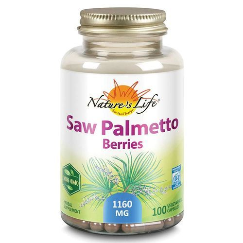 Nature's Life Saw Palmetto Berries 1160 mg  - 100 Vegetarian Capsules - 2163_front.jpg