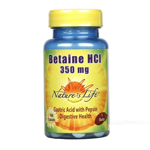 Nature's Life Betaine HCl 350 mg - 100 Tablets - 040647001176_1.jpg