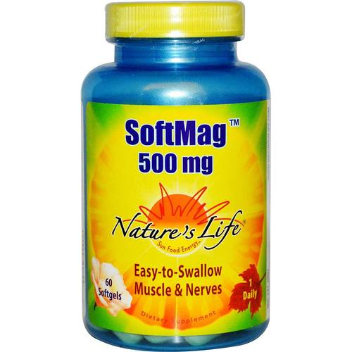 Nature's Life SoftMag 500 mg  - 60 Softgels - 50408_1.jpg